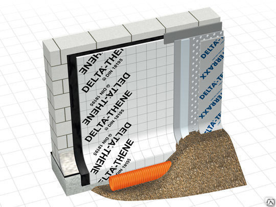 Гидроизоляция delta thene правильная гидроизоляция бетона битумом